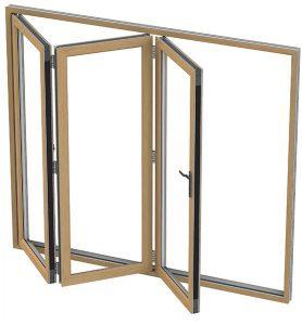 Aluminium Bi-folding Doors made in Barnsley